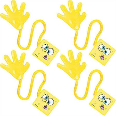 SpongeBob SquarePants Sticky Hands / Favors (4ct) (Spongebob Squarepants Birthday Party Supplies)