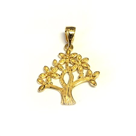 - Sterling Silver 18 Karat Gold Overlay Plated Tree Of Life Pendant