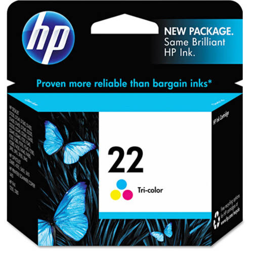 HP 22 Tri-color Original Ink Cartridge (C9352AN)