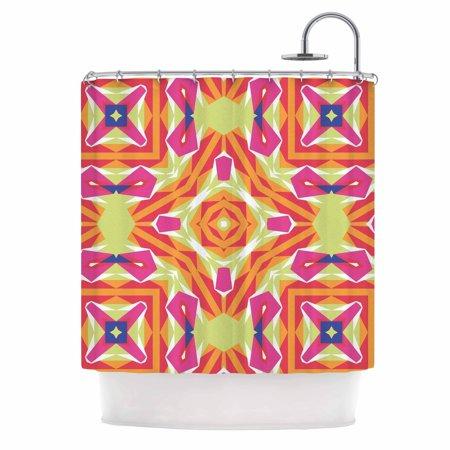 Kess Inhouse  Miranda Mol Summer Vibes Pink Blue Shower Curtain  69X70