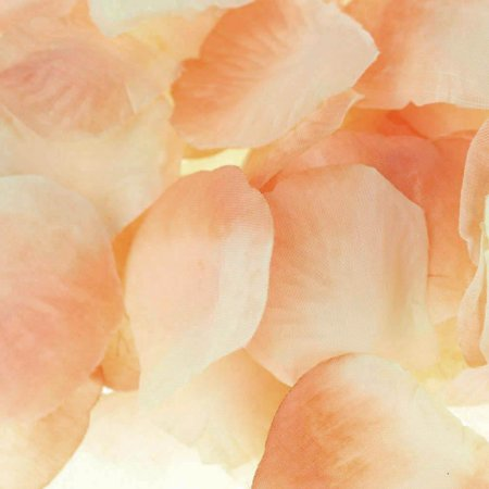 Two Tone Faux Rose Petals Table Confetti, 400-Piece, Peach - Table Confetti