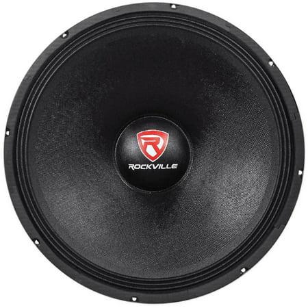 """Rockville RVW1800P8 1800-Watt 18"""" Raw DJ Subwoofer, 8 Ohms"""