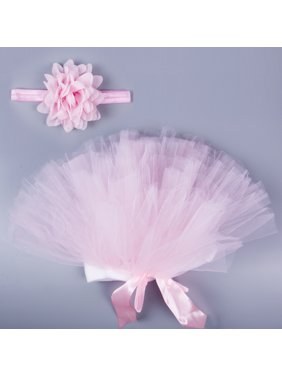 Pink Tutu Skirt Baby Girls Knitted Crochet Photo Prop Outfits