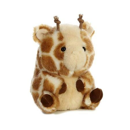 Giminy Giraffe Rolly Pet 5 Inch   Stuffed Animal By Aurora Plush  16831