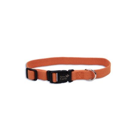 Sox Fiber - Coastal Pet Products New Earth 14601 PMK18 3/4 Inch Natural Fiber Soy Adjustable Dog Collar, Medium, 12 to 18 Inch, Pumpkin
