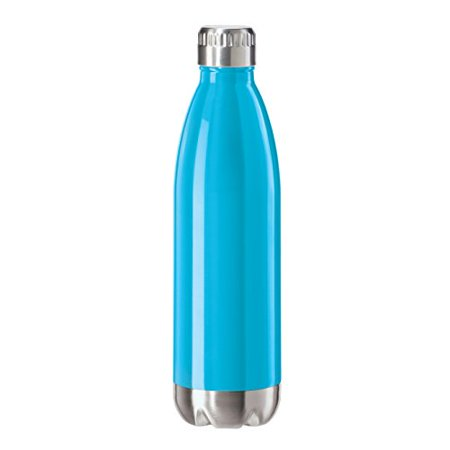 6f50f32f7c2 Oggi Stainless Steel Calypso Double Wall Sports Bottle with Screw Top Blue  Neon 8084.5 - Walmart.com