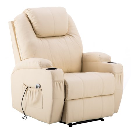 New Massage Chair (Electric Power Recliner Massage Ergonomic Chair Vibrating Heated Lounge Remote PU Leather 7050 )