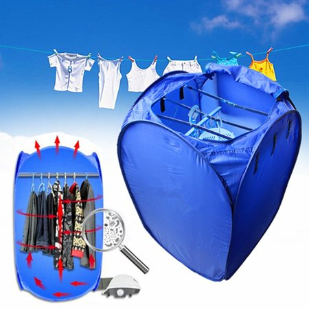 Estink Portable Ventless Clothes Dryer 800W Mini Electric Air Clothes Dryer Fast Folding Drying Machine Bag Box with Heater Electric Laundry Drying Rack
