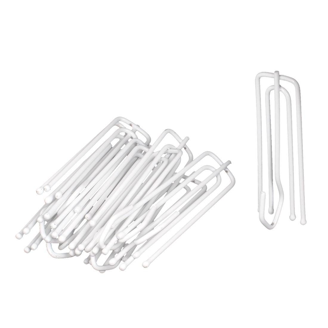 72mm Long White Metal 4 Prongs Pinch Pleat Drapes Curtain