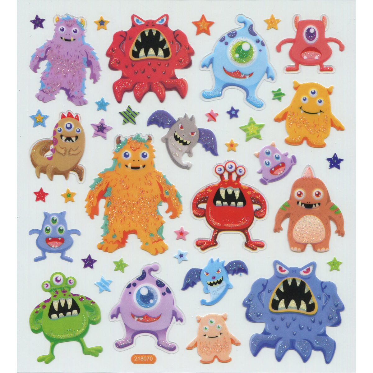 Multicolored Stickers-Monsters