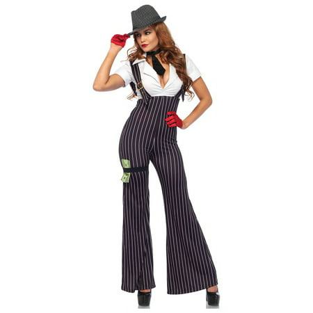 Leg Avenue Women's Brass Knuckle Mafia Gangster Babe Costume