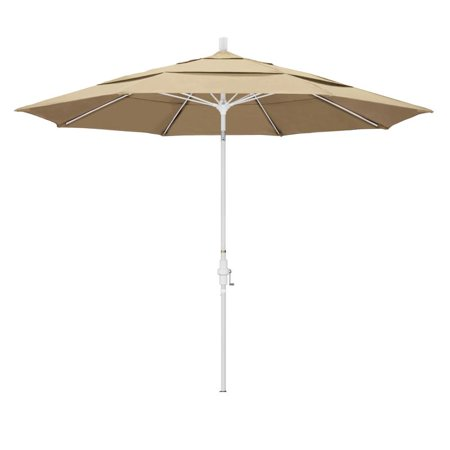 Image of California Umbrella Sun Master Series Patio Market Umbrella in Pacifica with Aluminum Pole Fiberglass Ribs Collar Tilt Crank Lift