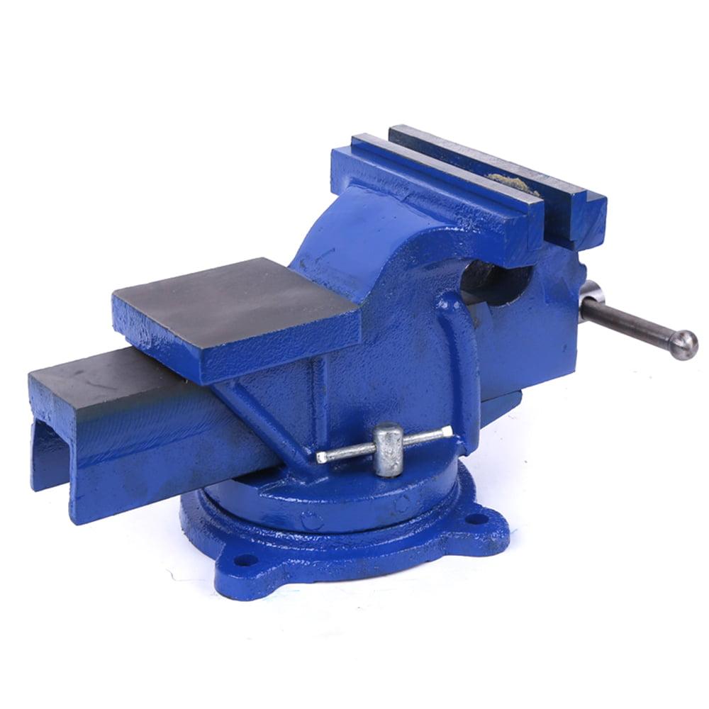 "Blue 6/"" Bench Vise Mechanic Table Top Clamp Press Locking Swivel Base"