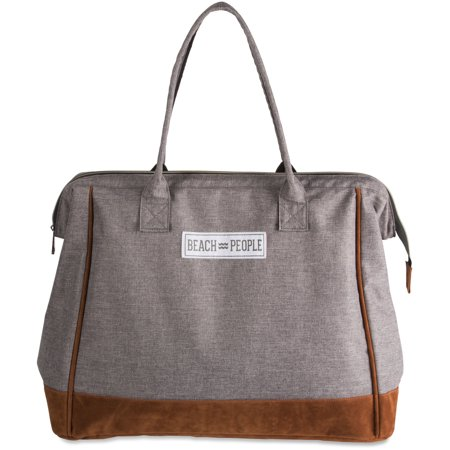 Pavilion - Beach People Gray Large Weekender Bag Large Weekender Bag