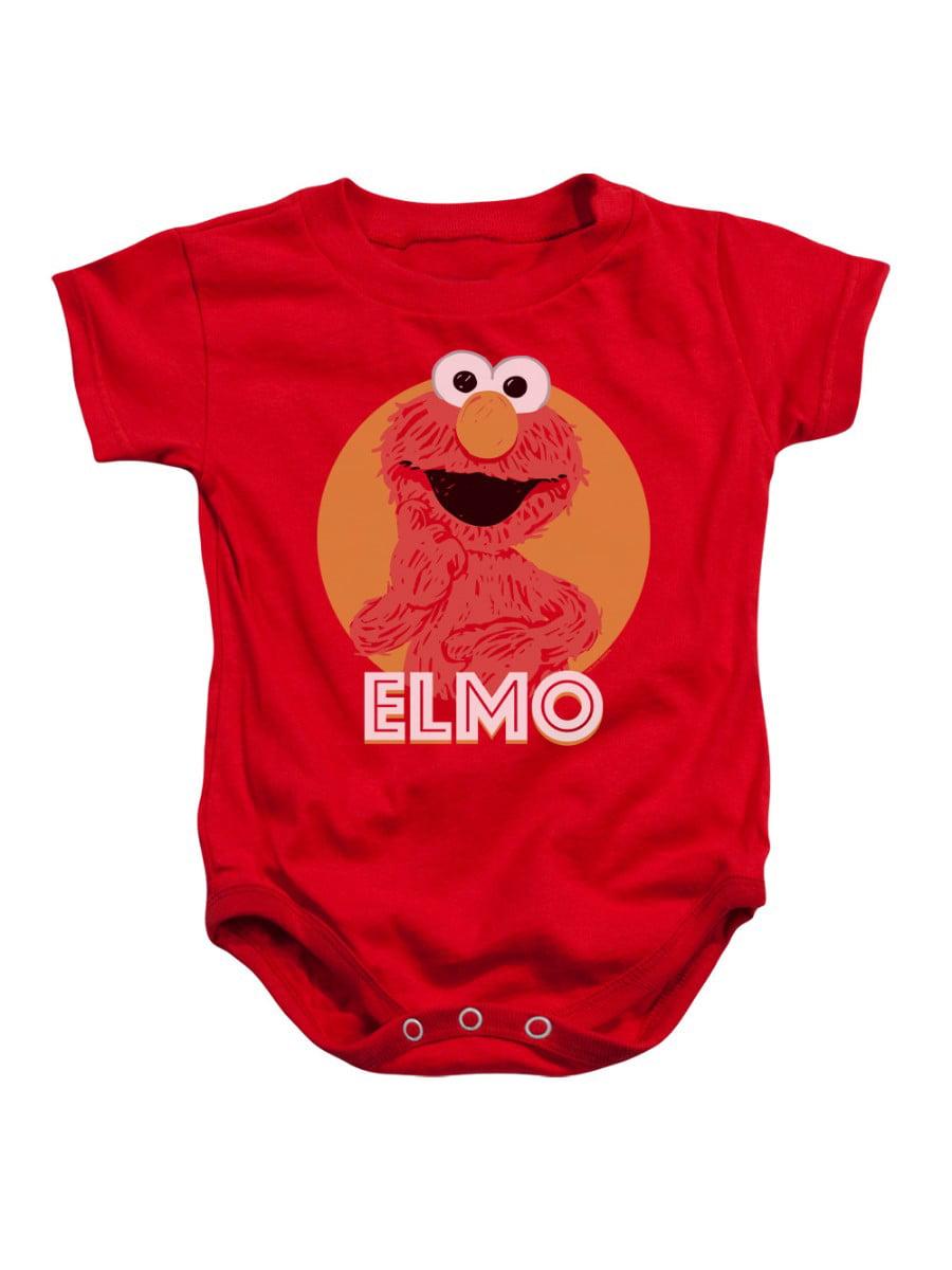 Sesame Street Classic TV Show Elmo Cartoon Scribble Infant Romper Snapsuit
