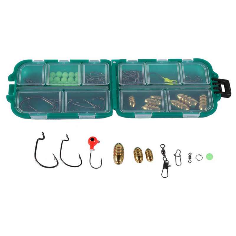 82 pcs Fishing Lure Accessory Kit Set, Lure Bait, Fishing Lure, Reusable Bass Bait Tackle Lure for Rock Fishing Sea Fishing
