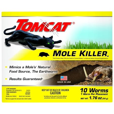 Mole Killer - Worm Bait (Box), Mimics a mole's natural food source, the earthworm By Tomcat