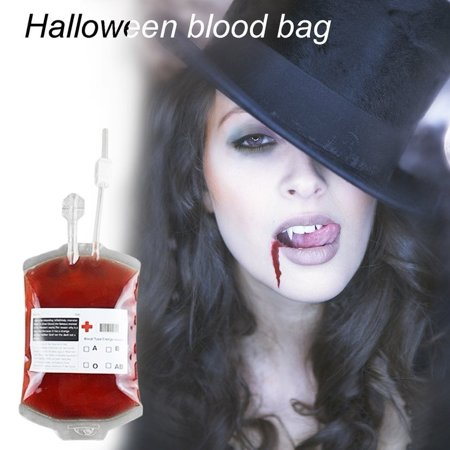 cnmodle DIY Blood Bag Energy Drink Bag Juice Energy Pack For Halloween - Transparent