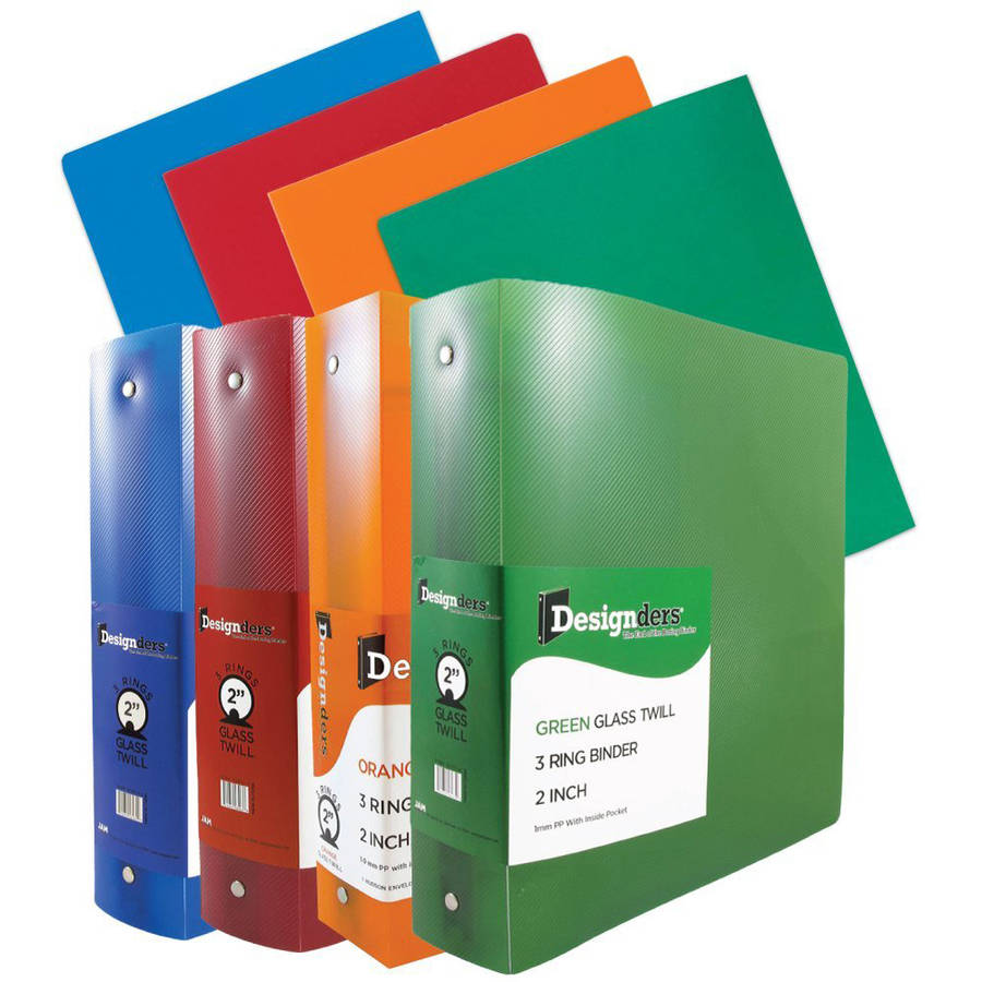 "Back-To-School Schoolwork Pack (Heavy Duty Folders, 2"" Binders), Assorted Colors, 8pk"