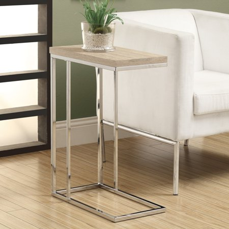 Natural Metal - ACCENT TABLE - NATURAL WITH CHROME METAL