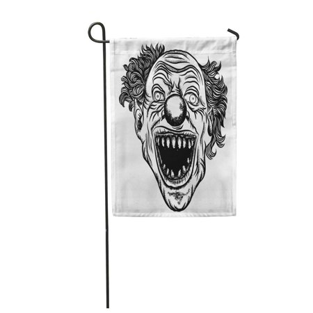 KDAGR Scary Clown Head of Circus Horror Film Character Laughing Angry Insane Joker Front Garden Flag Decorative Flag House Banner 12x18 inch](Scary Characters)
