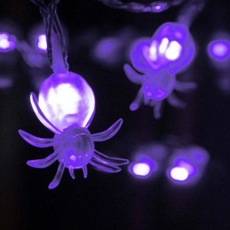 Tommyfit LED Halloween Spider String Lights Party Garden Holiday Decor - Halloween Light Show Party Anthem