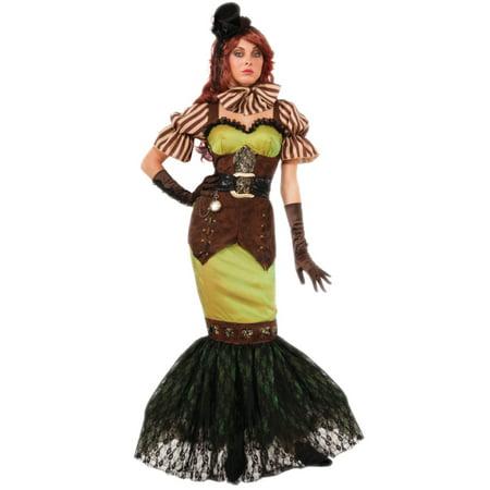 Adults Womens 20s Victorian Steampunk Fairy Siren Costume
