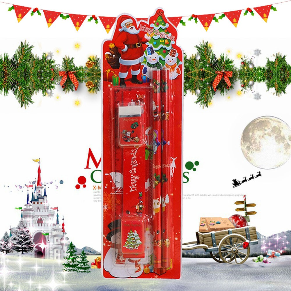 Christmas Stationery Set Pencil Eraser Combination Primary School Holiday Gift