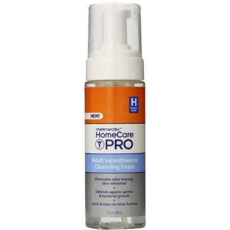 Welmedix HomeCare Pro Adult Incontinence Cleansing Foam 5 oz (Pack of