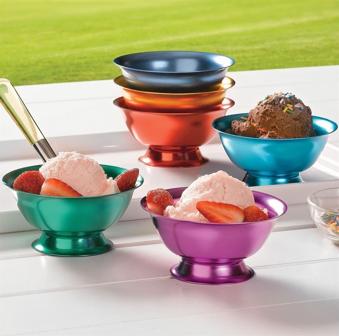 Set of 6 Anodized Aluminum Bowls