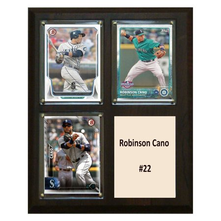 C&I Collectables MLB 8x10 Robinson Cano Seattle Mariners 3-Card Plaque