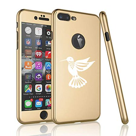 (360° Full Body Thin Slim Hard Case Cover + Tempered Glass Screen Protector for Apple iPhone Hummingbird (Gold, for Apple iPhone 6 Plus / 6s Plus))