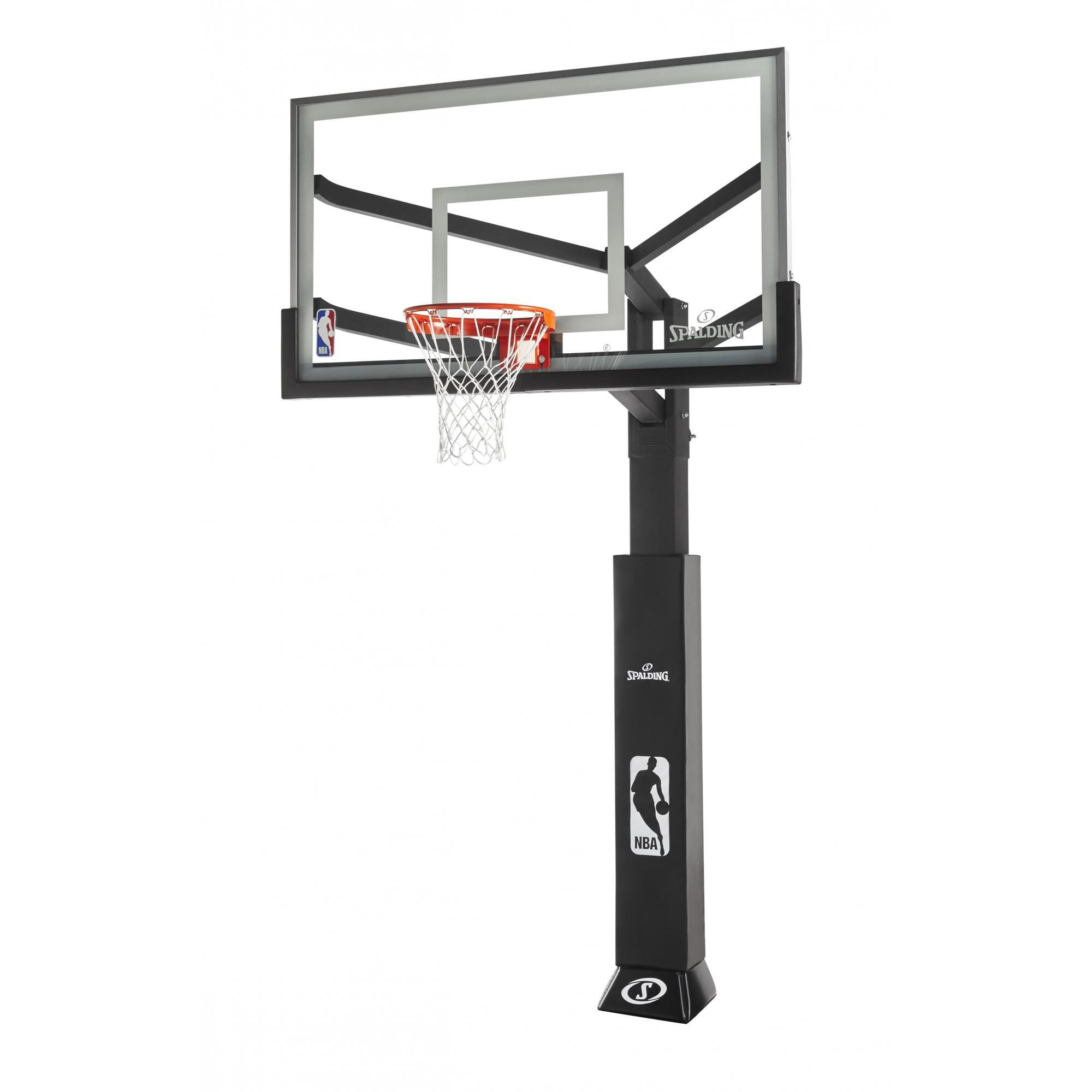 """Spalding NBA 72"""" Glass Arena View Series In-Ground Hoop System"""
