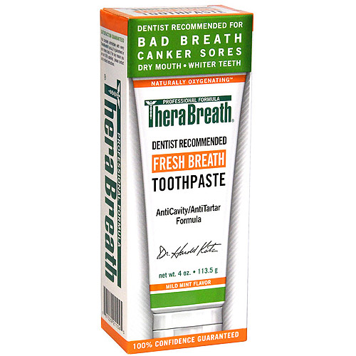 TheraBreath Dentist Recommended Fresh Breath Toothpaste, 4 oz