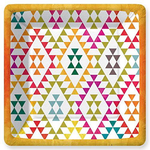 Design Design Mesa Square Party Dinner Plates - 8ct