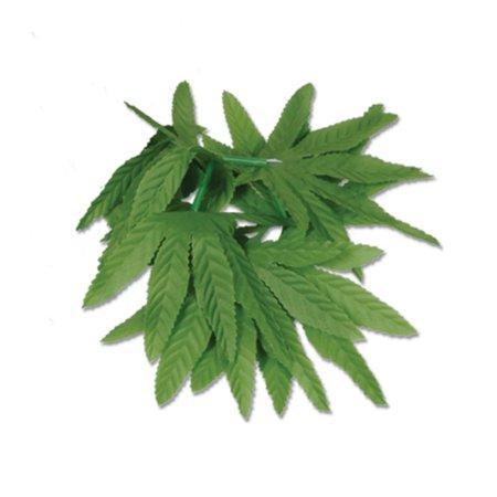 Pack of 12 Tropical Island Luau Party Green Fern Leaf Wristlet/Anklet Bracelets