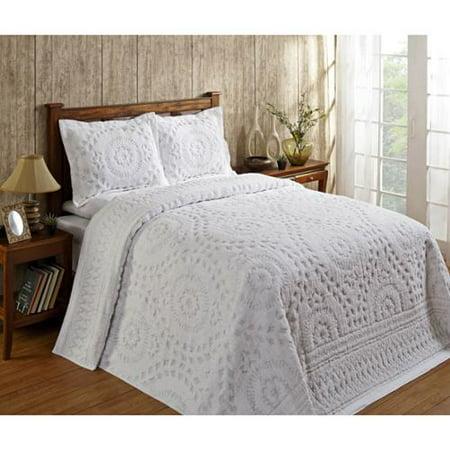 Rio Cotton Chenille Bedspread By Better Trends Twin White