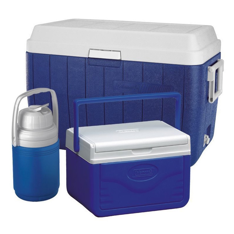 Coleman Blue Cooler Combo with 54-Quart Cooler, 5-Quart Cooler, and 1/3-Gallon Jug