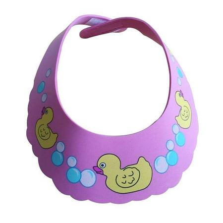 Lightahead? Coffre-fort Shampooing Canard Piscine Baby Shower Cap Protection de bain doux Chapeau de lavage Bouclier cheveux pour enfants en bas âge, les bébés, les enfants et les enfants pour garder l'eau de leurs yeux et du visage (Rose)