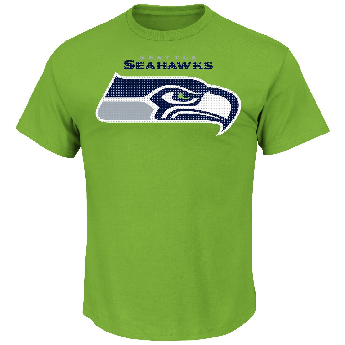"Seattle Seahawks Majestic NFL ""Critical Victory 2"" Men's T-Shirt - Lime"