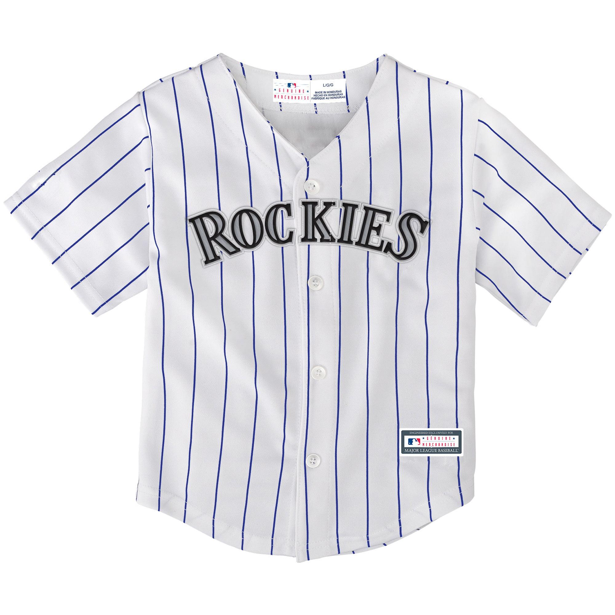 Colorado Rockies Preschool Replica Team Jersey - White/Purple