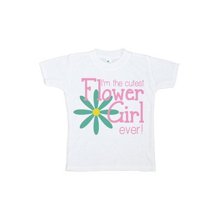 Custom Party Shop Girl's Cutest Flower Girl Wedding T-shirt - Small (6-8) T-shirt