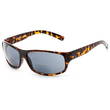 745efc1bb3cb Readers.com The Brazil Bifocal Sun Reader Sleek   Sporty Reading Sunglasses  with Bifocal Lenses Sport   Wrap-Around Reading Glasses - Walmart.com