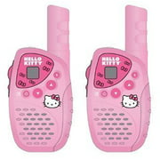 Hello Kitty KT2022 Mini FRS/GMRS 2 Piece Walkie Talkie Radio System Set, 22 Channels