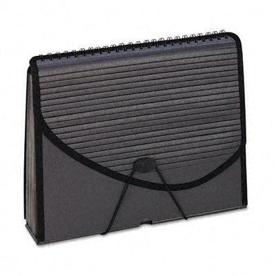 Pendaflex 13-Pocket Expanding Spiral File, Letter Size, Foam Poly, Smoke, 1/Ea (01121)