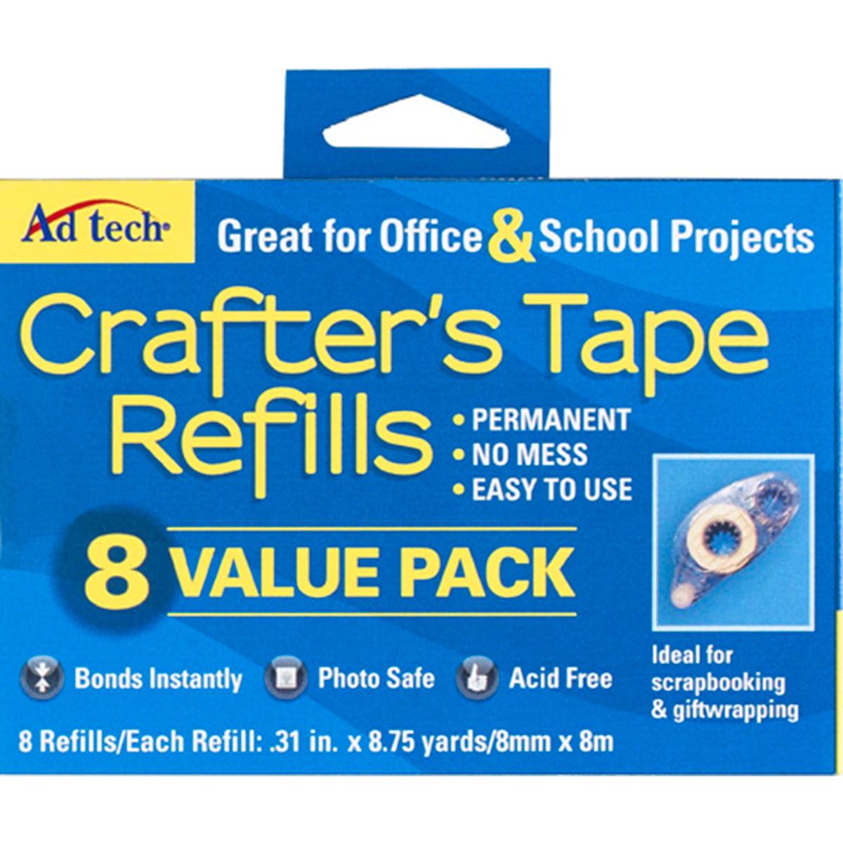 Crafter's Tape Refills 8/Pkg-Value Pack