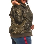 093e9a31730 Womens Plus Size Winter Faux Fur Puffer Bomber Parka Jacket RJK-728P-3XL-