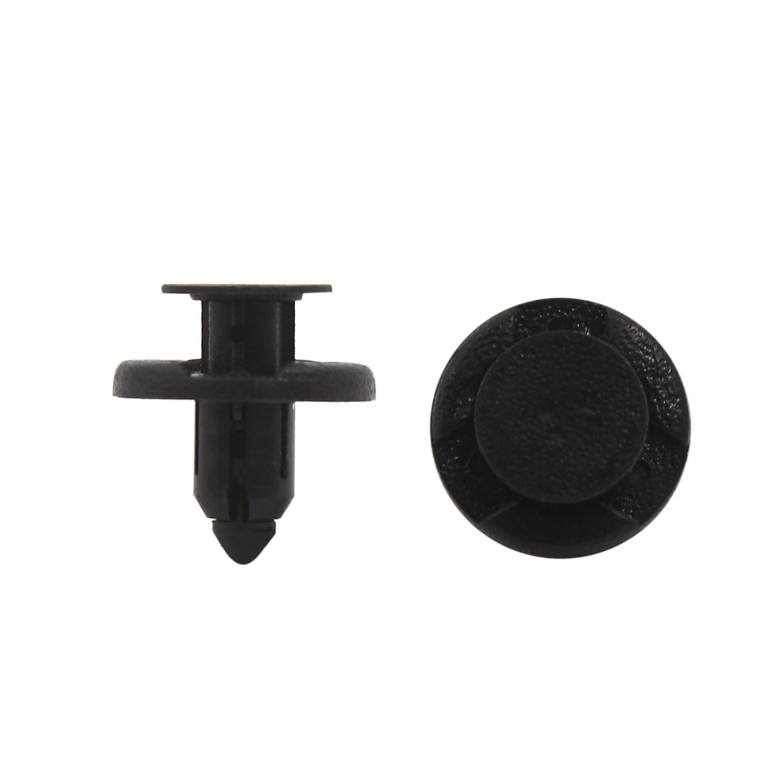 40 Pcs 8mm Dia Hole Plastic Rivets Fastener Push Clips Black for Car Auto Fender - image 2 of 2