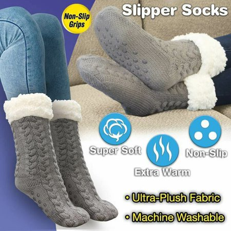 Huggle Slipper Socks Antifreeze Non-Slip Padded Lazy Socks Warm Winter Socks  | Walmart Canada