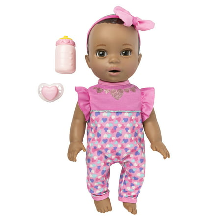 Luvabella Newborn Interactive Baby Doll - Brown Eyes